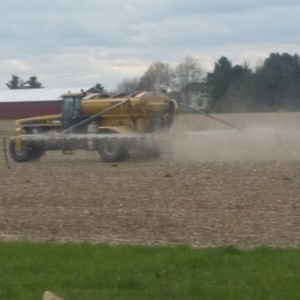 spreading urea